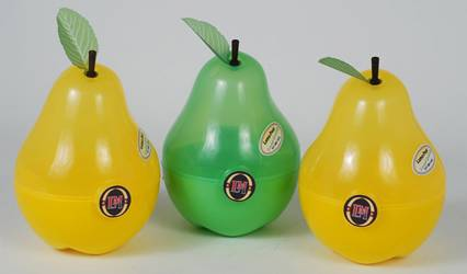Container - Pear Container Ref 1043 - Green & Yellow