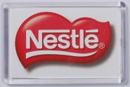 Ref. 133 - 52 x 78mm - Clear Magnetic Holder - Takes Printed Insert - Nestle