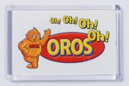 Ref. 133 - 52 x 78mm - Clear Magnetic Holder - Takes Printed Insert - Oros