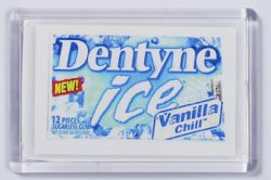 Ref. 133 - 52 x 78mm - Clear Magnetic Holder - Takes Printed Insert - Dentyne