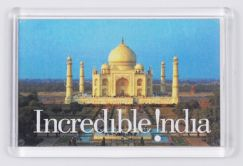 Ref. 133 - 52 x 78mm - Clear Magnetic Holder - Takes Printed Insert - India