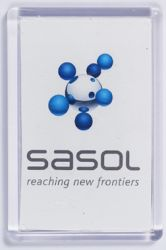 Ref. 133 - 52 x 78mm - Clear Magnetic Holder - Takes Printed Insert - Sasol