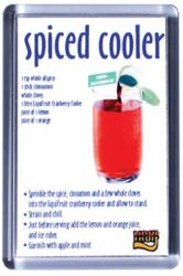 Ref. 133 - 52 x 78mm - Clear Magnetic Holder - Takes Printed Insert - Spirit Cooler