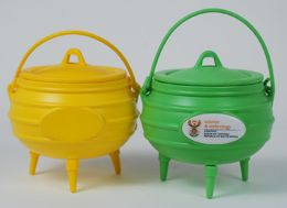 Ref. 1012 - Potjie Pot - Green & Yellow