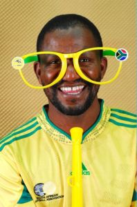 Ref. 1027 - Soccer Supporter Fun Glasses - Optional with Discs