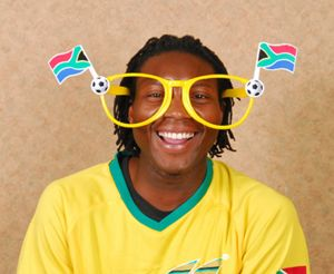 Ref. 1028 - Soccer Supporter Fun Glasses - Optional with Discs or Flags