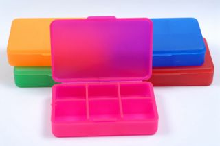 Ref. 1022 - Pill Box - 6 Compartments - Colours