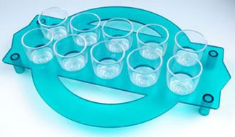 Ref. 416 - Curcular shot glass tray