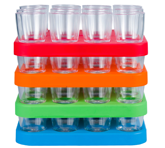Shot Glass - 25ml Bulk Shot Glass Tray x12 Ref 460 - Stacked