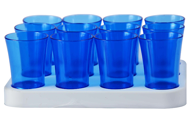 Shot Glass- 50ml Bulk Shot Glass Tray x12 Ref 461 - White