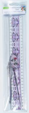 Stationery Set - Adult Stationery Set with Ruler 30cm Ref 236 - Pink Blossom