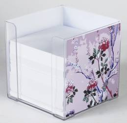 Paper Holder - Square Paper Holder Ref 222 - Pink Blossoms