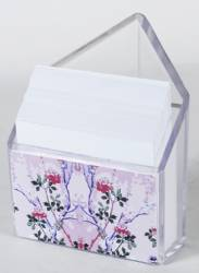 Paper Holder - Triangle Paper & Pen Holder Ref 220 - Pink Blossoms