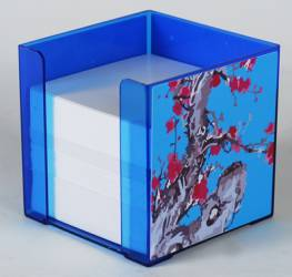 Paper Holder - Cube Paper Holder Ref 186 - Blue Blossoms