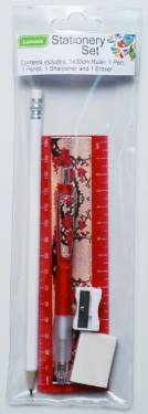 Stationery - Kids Stationery Pack with Ruler 30cm Ref 180 - Red Blossoms