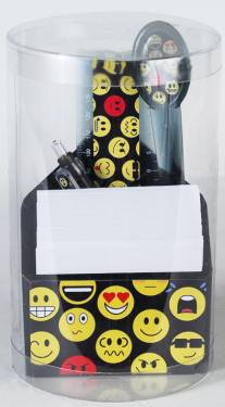 Pen Holder- Triangle Paper and Pen Holder Ref 287 - Emoticons