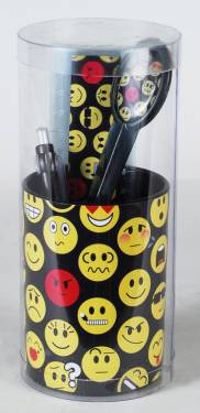 Pencil Cup - Pencil Cup with Contents Ref 286 - Emoticons