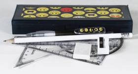 Pencil Box - Pencil Box with option to select contents & Maths Set Ref 285B - Emoticons