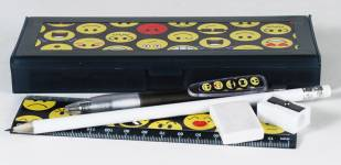 Pencil Box - Pencil Box with option to select contents Ref 285A - Emoticons