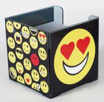 Paper Holder - Square Paper Cube Ref 277 - Emoticons