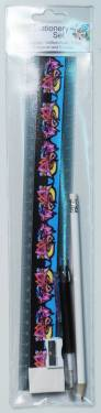 Stationery Set - Kids Stationery Set with 30cm Ruler Ref 254 - Graffiti
