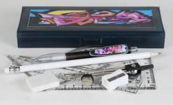 Pencil Box - Pencil Box with option to select Contents & Maths Set Ref 248B - Graffiti