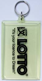 Keyring - Clear Keyring CK 9A Fold Over - 63mm x 93mm