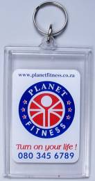Keyring - Clear Keyring CK 9A Fold Over - 95mm x 63mm