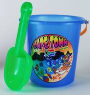 Beach Set - Bucket and Spade Ref 761 - Cyan & Green