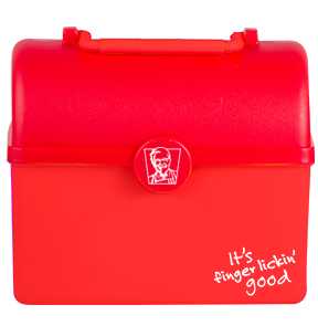 Lunch Box - Tresure Chest Lunch Box with 300ml Sports Bottle Ref 754 - Red, KFC