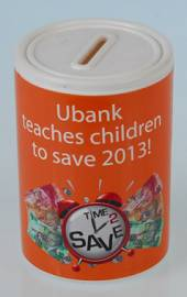 Money Box - Round Money Box Ref 727 - Orange