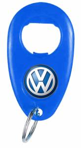 Bottle Opener - Teardrop Bottle Opener Key Ring Ref BO10 - Domed VW