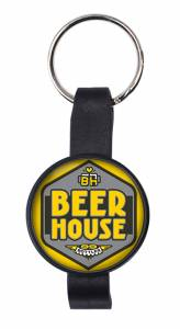 Bottle Opener - Round Bottle Opener Key Ring Ref BO14 - Beer House