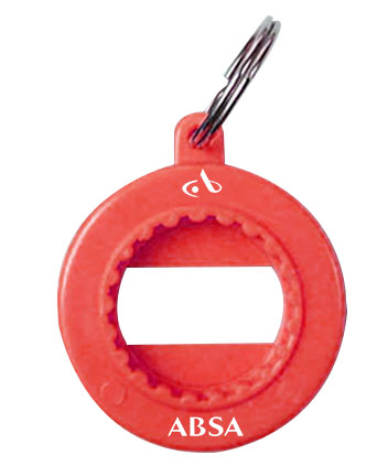 Bottle Opener - Three Function Bottle Opener & Key Ring Ref BO1- Absa