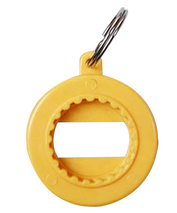 Bottle Opener - Three Function Bottle Opener & Key Ring Ref BO1- Yellow