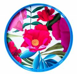 Tray - Round Tray Ref 463 - Full Colour Flower Print