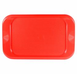 Tray - Rectangular Tray with Dimples Ref-473 - Red