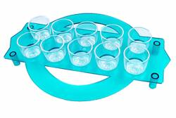 Tray - Shot Glass Tray 25ml Ref 416 - Clear Blue