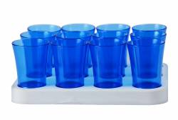 Tray - Shot Glass Tray 50ml Ref 461 - Clear Blue