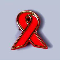Badge - Custom Badge Ref 100 - AIDS Ribbon
