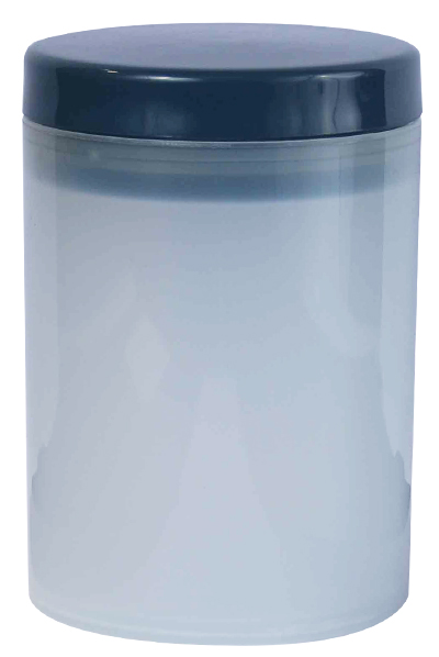 Canister - Storage Canister Ref 1090 - Semi-Transparent with Charcoal Lid