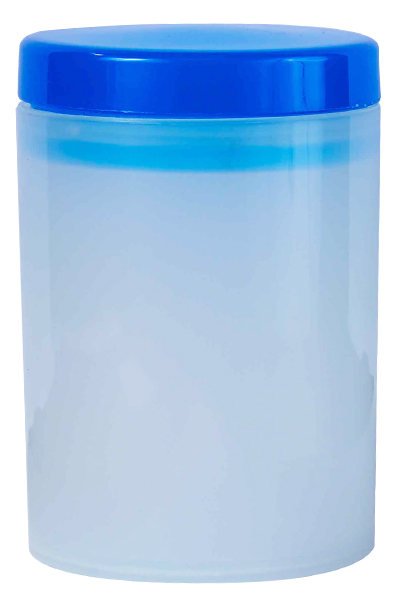 Canister - Storage Canister Ref 1090 - Semi-Transparent with Royal Blue Lid
