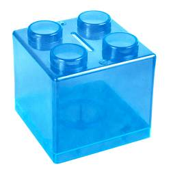Money Box - Lego Money Box Ref.1322 - Clear Cyan