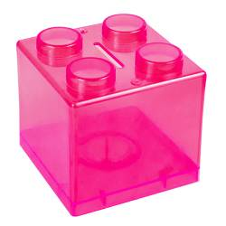 Money Box - Lego Money Box Ref.1322 - Clear Magenta