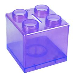 Money Box - Lego Money Box Ref.1322 - Clear Purple