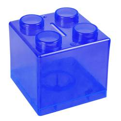 Money Box - Lego Money Box Ref.1322 - Clear Royal Blue