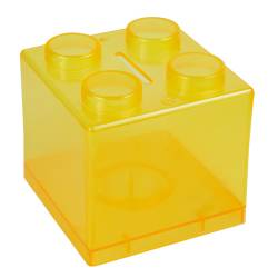 Money Box - Lego Money Box Ref.1322 - Clear Yellow