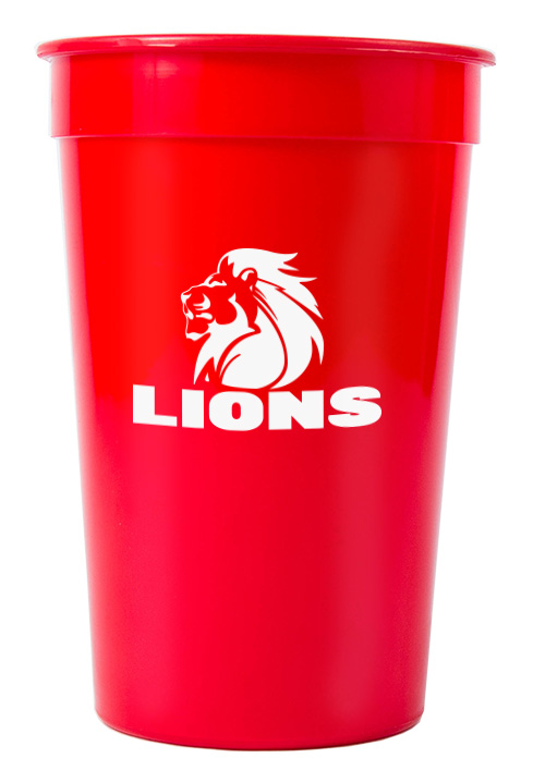 Tumbler - Party Tumbler Ref 442 - Solid Red, Lions Rugby