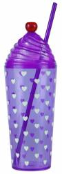 Tumbler - Sundae Tumbler with Cap & Straw Ref 464 - Purple