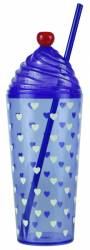 Tumbler - Sundae Tumbler with Cap & Straw Ref 464 - Royal Blue